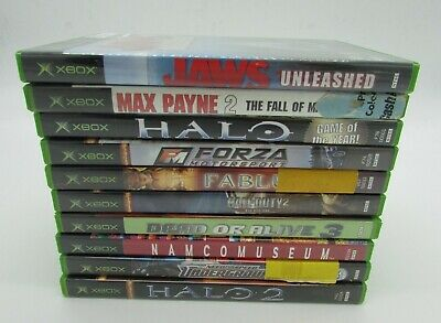 Original XBOX Video Game Games lot of 10 Used Halo Jaws Need For Speed Fable