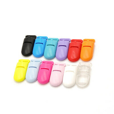 5X Plastic Baby Pacifier Clip Teething Clips Dummy Soother Nipple Chewable DIY