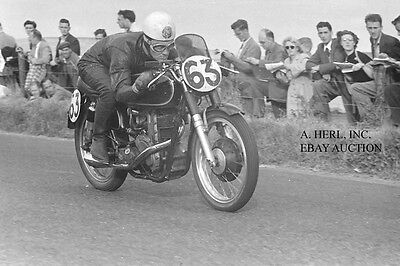 AJS 7R 350cc worksracer & Bob McIntyre - Ulster Grand Prix 1953 – photo