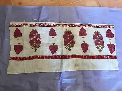 Interesting embroidered textile fragment, Ottoman (?), (Persian (?),19th century