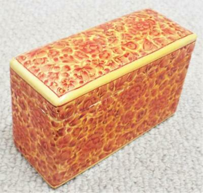 Playing Card Box Antique Vintage 1920s Lacquered Wooden Box