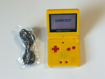 Gameboy Advance SP Pokemon Pikachu Nintendo System yellow Color AGS-001