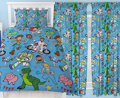 Toy Story 4 Rescue Single Duvet & Matching Readymade Curtains Bedding Set