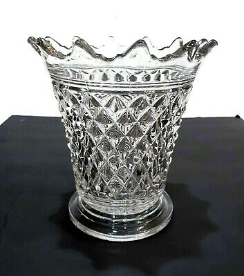 Very Rare Antique Eapg Cambridge Stratford Mt Vernon Toothed Glass Vase