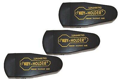 Lot of 3 Hide A Key Magnetic Storage Holder Under Car Spare Key Case Large Black