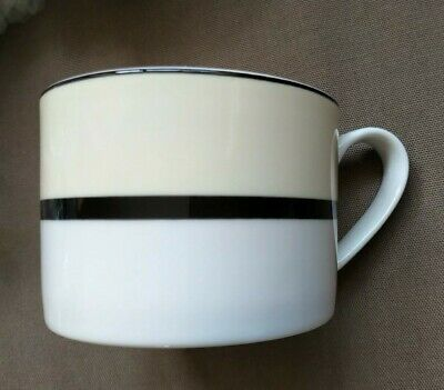 Marks And Spencer St Michael Manhattan Cup / Mug M&S Cream Black White