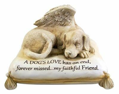 Angel Dog Urn For Cremations Ashes Statue Pet Memorial Figurine