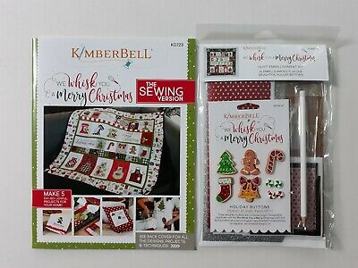 We Whisk You A Merry Christmas Sewing Version & Embellishment Kit (Sold Together