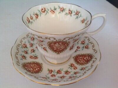 Bone China Cup & Saucer By Royal Albert Cameo Series Heirloom Pattern
