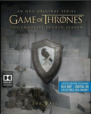 GAME OF THRONES FOURTH SEASON 4 New Blu-ray Steelbook + Collectible Sigil Magnet