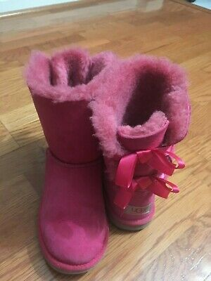 5689fd28b UGG AUSTRALIA GIRLS Bailey Button II Pull On Boots Suede size 13 ...
