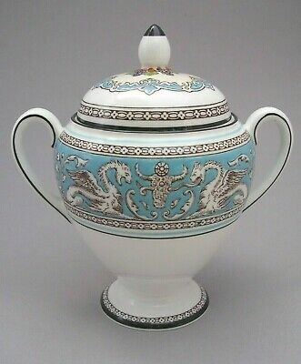 Wedgwood - Turquoise Florentine - Covered Sugar - 1St Quality - Slightly A.f.