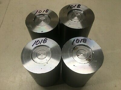 2 1/2 Inch Diameter 1018 Cold Rolled Steel Bar End Scrap Lot.
