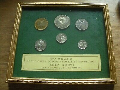 Russia 50 Years Great October Socialist Revolution 1917-1967 Set Jubilee Coins