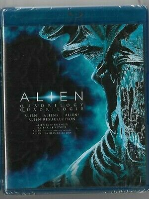 New Sealed - BLU-RAY DISC - ALIEN QUADRILOGY 4 MOVIES  -  Also In French