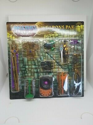 MOTUC MASTERS OF THE UNIVERSE CLASSICS HE-MAN Weapons Pack Great Wars Assortment