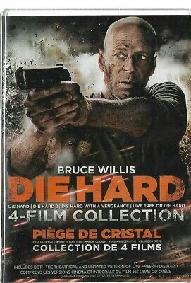 New Sealed - DVD - BRUCE WILLIS - DIE HARD 4 Film Colelction 1 2 3 4 Also French