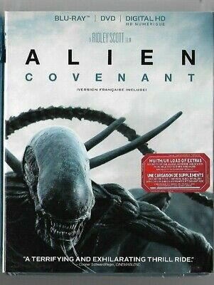 New Sealed BLU-RAY - DVD - Digital HD - ALIEN COVENANT - Also In French