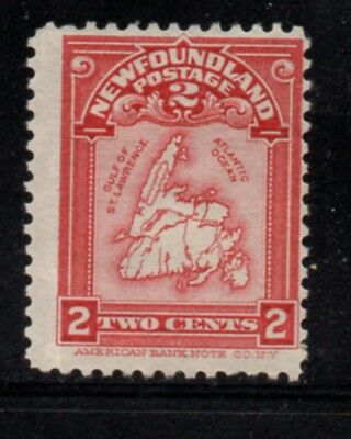 Newfoundland Sc 86 1908 2c Map stamp mint Free Shipping