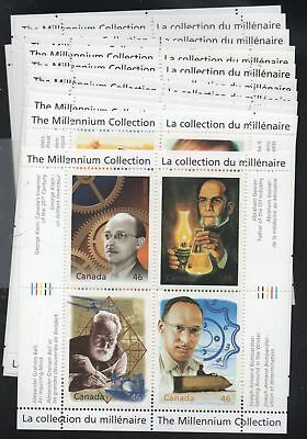 Canada Sc  1818-34 1999-2000 Millennium stamp sheets mint NH Free Shipping