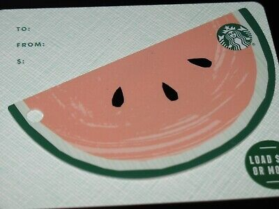 Starbucks Card 2019 Gift Card - Summer Watermelon Die Cut  - Star Mark - New!