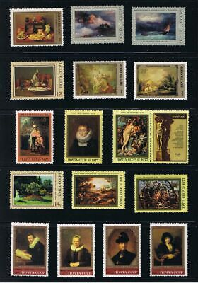 Art, Painting Hermitage Russia MNH Stamps Collection 16 x