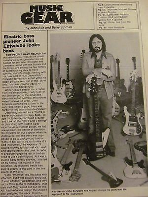 The Who, John Entwistle, Full Page Vintage Clipping
