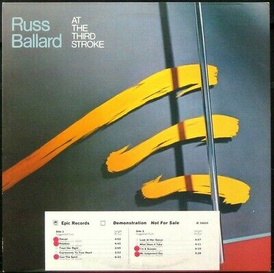 RUSS BALLARD 'At The Third Stroke' NM Never played 1978 white label Promo LP