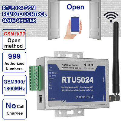 RTU5024 Upgraded GSM Gate Opener Wireless Remote Control Door Access FREE Call