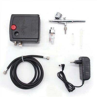 Pro G-08 Dual Action Airbrush Compressor Kit Spray Air Brush Tattoo Nail Set Kit