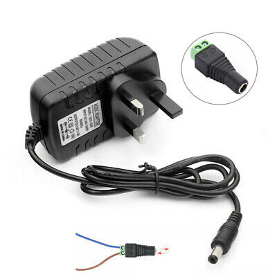 AC to DC 12V 2A / 3A Power Supply Adapter Charger Transformer for LED Strip UK