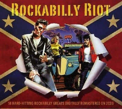Rockabilly Riot 2-CD NEW SEALED Carl Perkins/Ray Scott/Roy Hall/Bill Flagg+