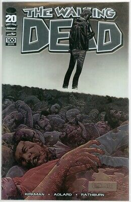 The Walking Dead #100 Adlard Chrome Wrap Variant 1St Negan Image Comics