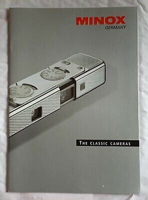 Minox, The Classic Cameras, Product Brochure