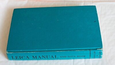 Leica Manual, and Data Book hardback book,1965 Edition