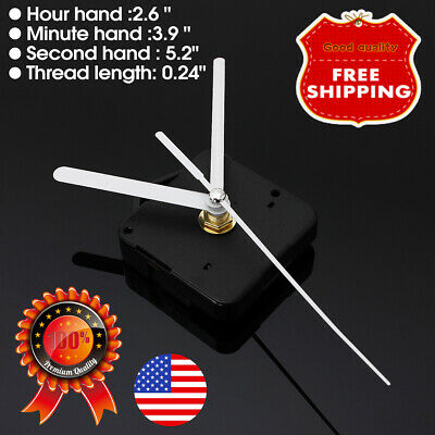 Battery Operated quartz Clock Movement Mechanism Parts with White Long Hand Tool