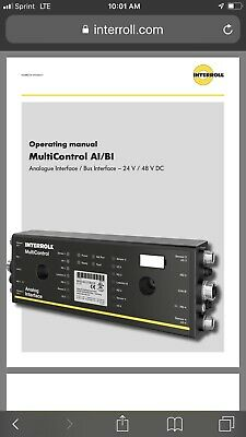 Interroll Control Box 240BB13052AC, Analog