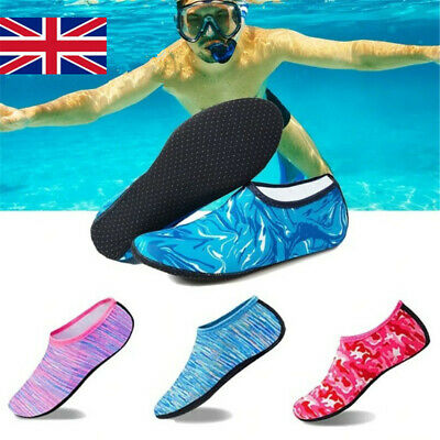 Unisex Men Women Kids Water Skin Shoes Socks Slip On Sea Wet Beach Swim Surf UK