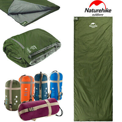 3Season Sleeping Bag Waterproof Single Suit Case Camping Hiking Outdoor Jo