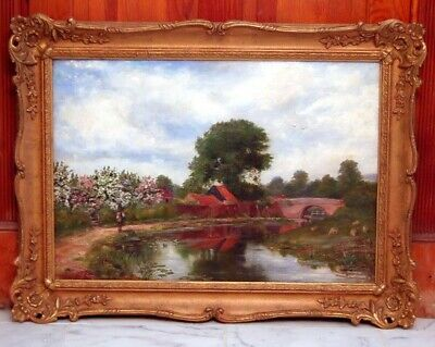 Gorgeous!!! 19Th Century Signed Listed William Hayden Fuge Pastoral Oil Painting