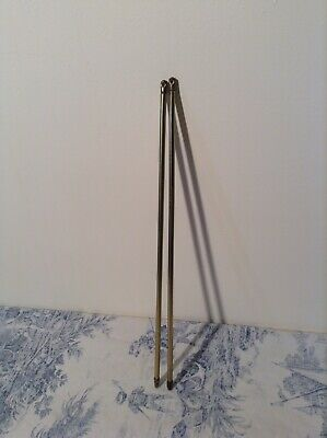 Pair of French Extendable Cafe Curtain Rods 39-72cm (3663/4)