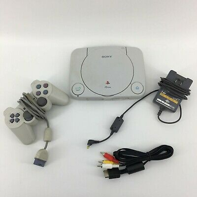Sony Playstation One PS1 Video Game Console with controller