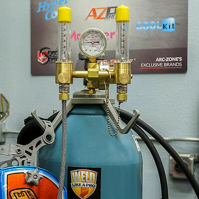 Dual Argon Flowmeter/Regulator&Purge Kits | Options: Standard Dual Flowmeter Kit