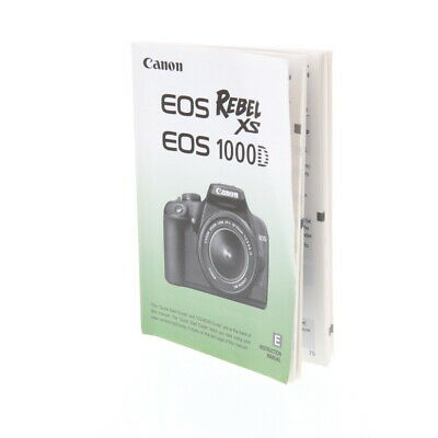 Canon EOS Rebel XS/EOS 1000D Instructions