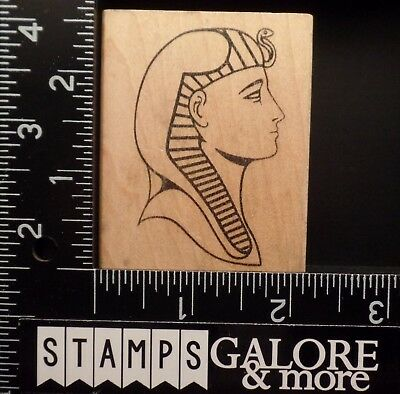 Judi Kins Rubber Stamps 2174F King Tut Egypt Egyptian King Farrell Snake #544