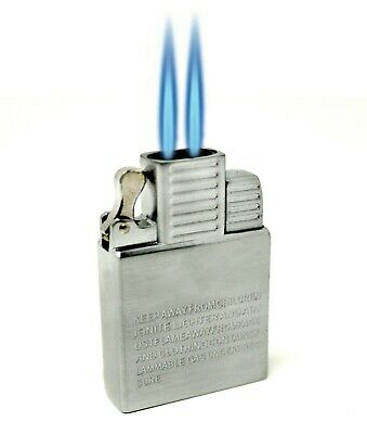 Dual Torch flame Butane Insert works with Vector KGM Zippo Thunderbird Lighters