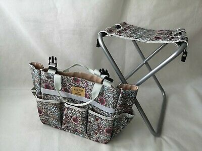 Briers Garden Tool Bag Seat with Storage Floral Gardening Outdoors Beach Summer