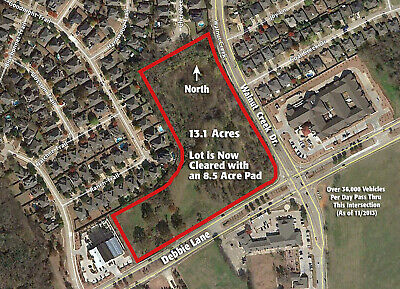 13.1 Acre Hard Corner in Rapidly Growing Mansfield, Texas Market 76063