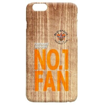 Blackpool F.C - Personalised Hard Back Phone Cover (No1 FAN)