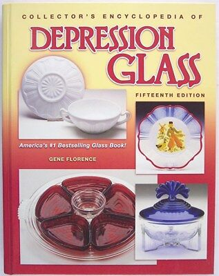 Collectors Encyclopedia of Depression Glass, Gene Florence, 15th Ed, HC, Signed